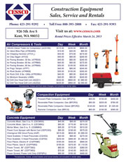 CESSCO Seattle rental catalog